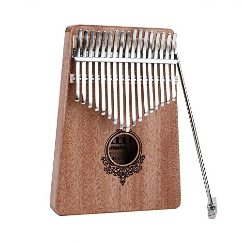 17 Key Kalimba Thumb Piano,Portable Mahogany Wooden Body Musical Instrument(Burlywood) by Yosoo-