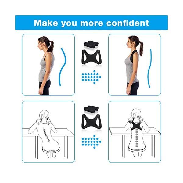 Charminer Correcteur de Posture,Orthèse de Maintien pour Dos et Clavicule,Cou et Épaules, Ceinture Dorsale Réglable…