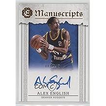 Alex English #112/149 (Basketball Card) 2016-17 Panini Excalibur - Manuscripts #M-AE