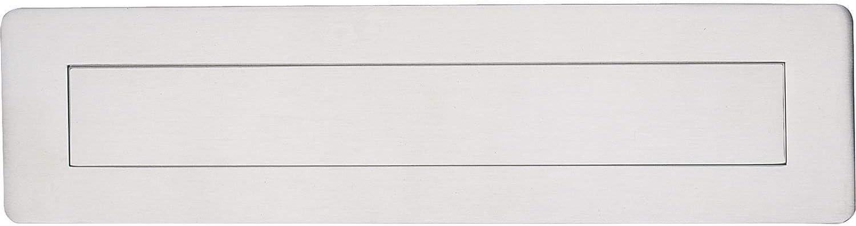 Gedotec Zeitungsklappe Postschlitz Briefeinwurf-Klappe Acero Inoxidable para Puertas Delanteras & Wohnungseingangstüren | Gran Tür-einwurfklappe de Inox | 315 X 80mm | 1 Pieza - Cubierta Al Aire L