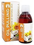 GuruNanda Oil Pulling Oral Detox Oil Refreshing Ayurvedic Blend of Coconut, Sesame, Sunflower, & Peppermint Oils (8.45 fl. oz)