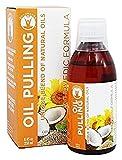 GuruNanda Oil Pulling Oil Oral Detox Oil Refreshing Ayurvedic Blend of Coconut, Sesame, Sunflower, & Peppermint Oils (8.45 fl. oz)