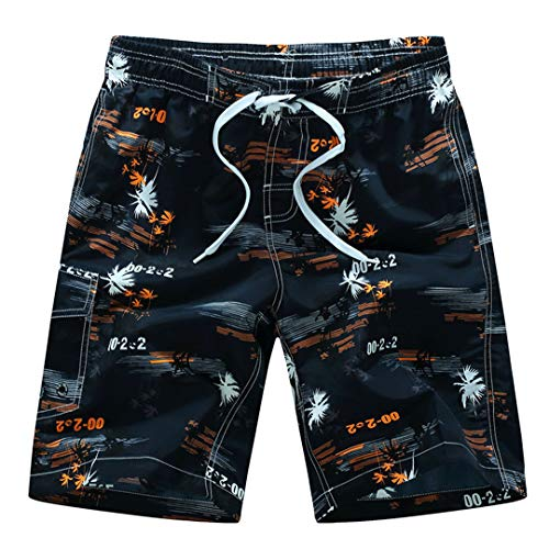 Men Beach Shorts Swimwear Swim Shorts Surf Wear Board Shorts Summer Swimsuit Bermuda Beachwear Trunks Short Black Orange Asian 4XL