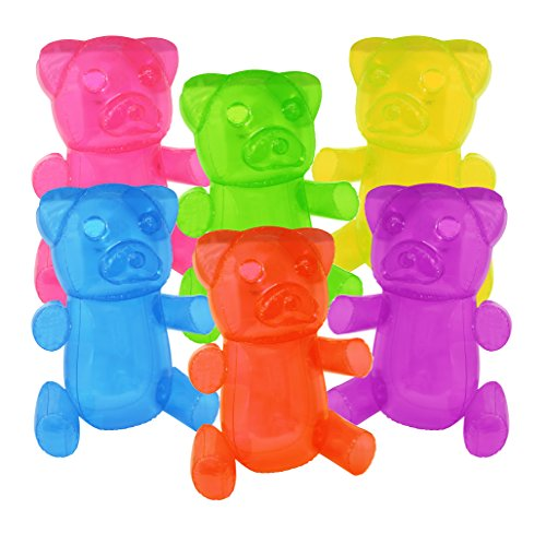 24 Inflatable Gummy Bears Fun Party Decoration In An Assortment Of Colors (3)