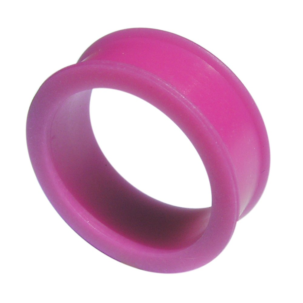 Tunnel-Plug-Taper 24MM Color Changing to Fuchsia Exclusive Silicon Ear Plug Body jewelry