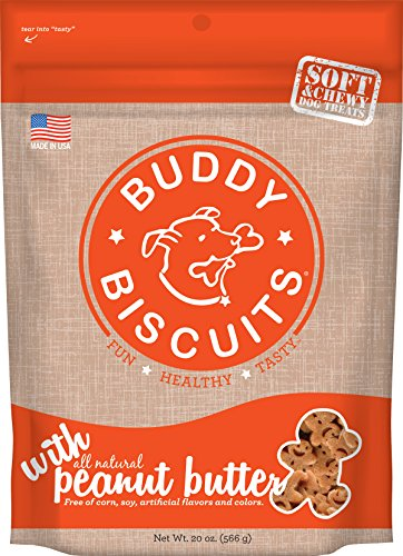 (Buddy Biscuits Soft & Chewy Dog Treats With All Natural Peanut Butter 20 Oz)