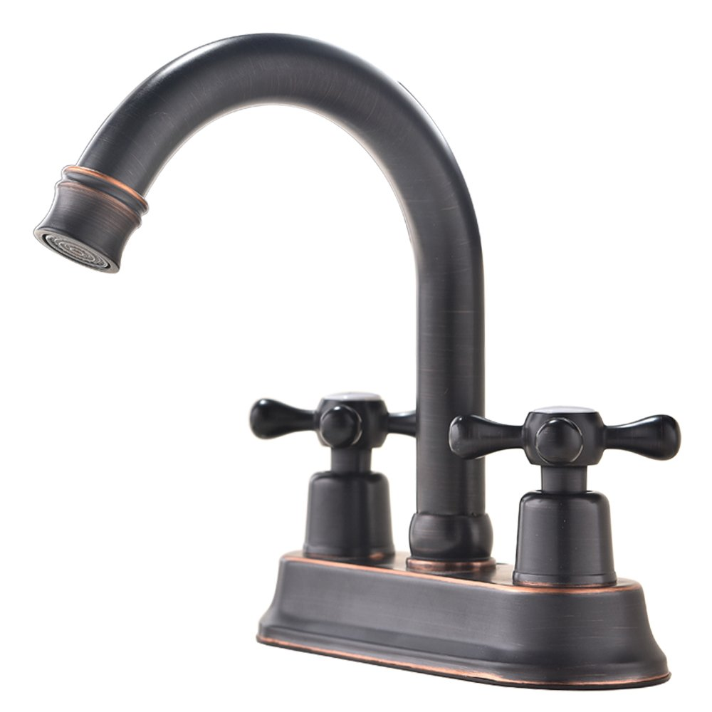 Modern Oil Rubbed Bronze 2 Handle Widespread Stainless Steel bathroom faucet,Oil Rubbed Bronze Bathroom Sink Faucet
