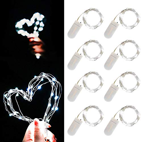 Fairy String Lights - Led Moon Lights 7.2ft 20 Leds firefly string lights Copper Wire Starry String Lights for DIY Costume Wedding Easter Party Table Centerpiece Décor -