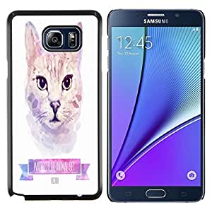 Dragon Case - FOR Samsung Note 5 N9200 N920 - never know your luck - Caja protectora de pl??stico duro de la cubierta Dise?¡Ào Slim Fit