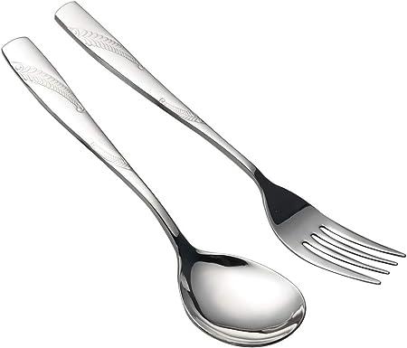 Lesbye 4 Pezzi Forchetta da Servizio E Cucchiaio da Servizio, Grande Cucchiaio  Forchetta: Amazon.it: Casa e cucina