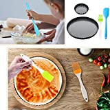 5 Pieces 9 Inch and 4 Inch Non-Stick Tart Pan Round