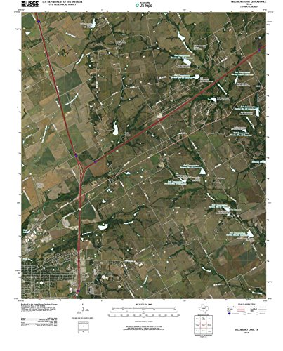 Texas Maps | 2010 Hillsboro East, TX USGS Historical Topographic Aerial Map |Fine Art Cartography Reproduction - Map Tx Hillsboro