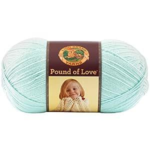 Lion Brand Yarn 550-156A Pound of Love Yarn, Pastel Green