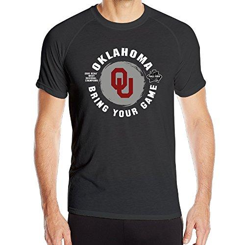 Men's Oklahoma Sooners 2016 Basketball Tournament Final Four Bound Polyester Sports Shirts