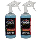 DualPolymer Waterless No Rinse Car Wash, Wax and Polish   Acrylic Based Auto Detailing and Polishing Product   Includes Microfiber Towel   Made in the USA (Pack of 2)