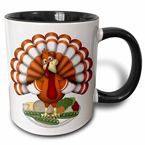 3dRose mug 216932 4 Orange Thanksgiving Vegetables