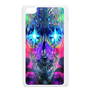 C-Y-F-CASE DIY Color Skull Pattern Phone Case For Ipod Touch 4