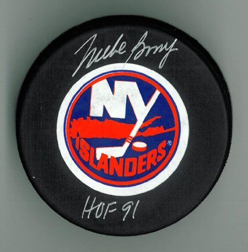 Mike Bossy Autographed Islanders Puck w/