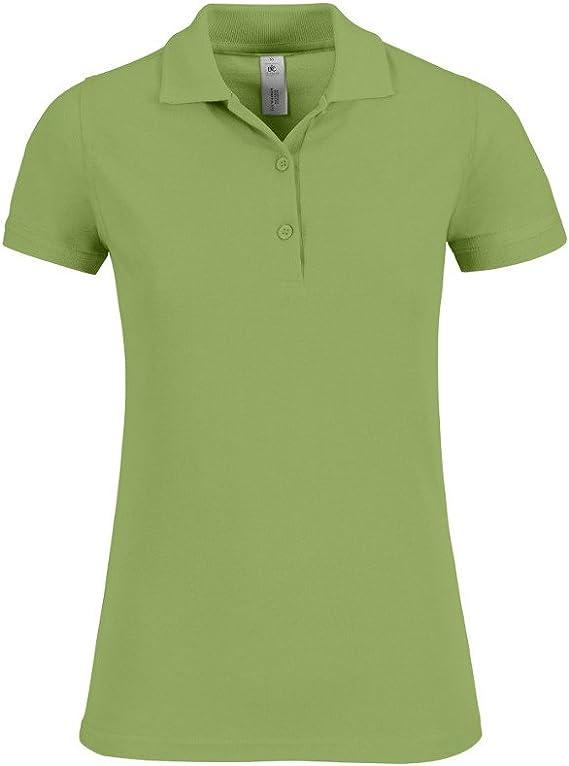 B&C Collection - Polo - para Mujer Verde Pistacho: Amazon.es: Ropa ...