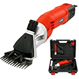 Tungfull 6Speed 110V/220-240V 500W 0-2400 rpm 76mm/94mm Electric Sheep Clipper Sheep Shearing Clipper Sheep Wool Shear Machine Red