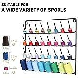 HAITARL 32-Spool Sewing Thread Rack, Wall-Mounted