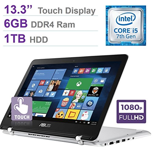 2017 Newest ASUS 13.3'' 2-in-1 Touchscreen FHD (1920 x 10...