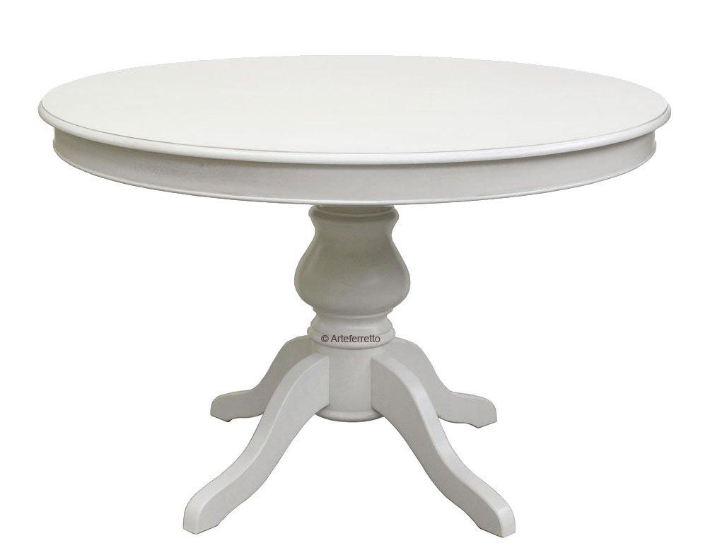 Tavolo tondo con allunghe stile Luigi Filippo 100 cm: Amazon.it ...