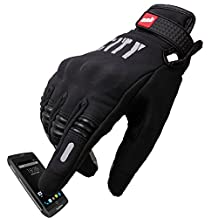 Madbike Stealth Hard Knuckle Motorcycle Gloves Touch Screen Motorbike Powersports Racing Tactical Paintball Black (XXL)