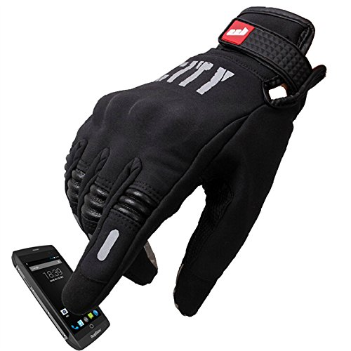 - Madbike Stealth Hard Knuckle Motorcycle Gloves Touch Screen Motorbike Powersports Racing Tactical Paintball Black (M)