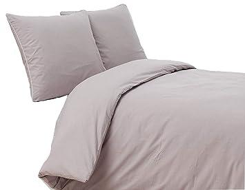 Edelano Perkal Bettwäsche Set Bettdeckenbezug Mit Kopfkissenbezüge
