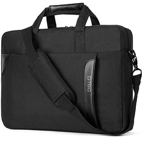 [DTBG 15.6 Inch Laptop Shoulder Bag Nylon Messenger Bag Business Briefcase Handbag Laptop Case for HP / Lenovo / Dell / Toshiba / Men / Women ( Black )] (Leather Nylon Briefcase)