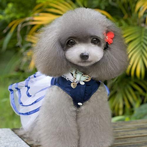 Guguogo para Perros Summer Novia Princesa Mascotas Dog Mascotas Ropa Perros Vestido S azul Vestido de de la Dress r6UrFqn