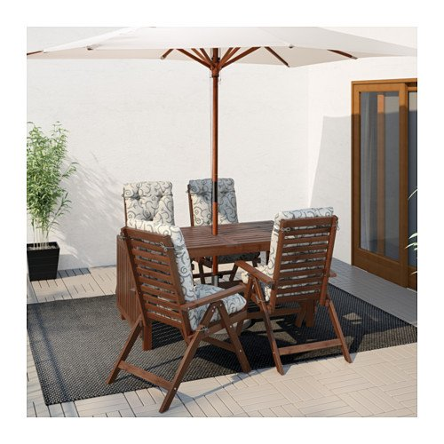 Amazon.com   APPLARO, Drop Leaf Table, Brown   Kitchen U0026 Dining Room  Furniture