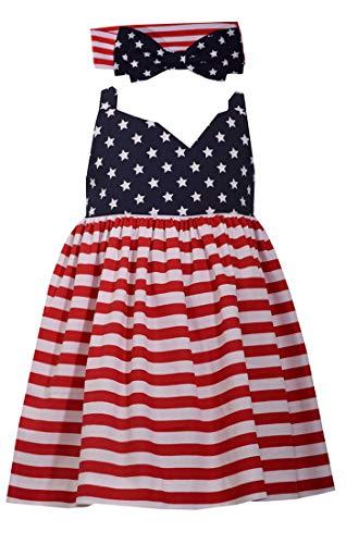 - Bonnie Jean Girls' Stars & Stripes Sundress w. Matching Panties & Headband 12-24 Months (12 Months)