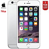 Apple iPhone 6, Silver, 16GB, Unlocked Carrier IPH6GD16U (Certified Refurbished) + 1 Year Extended Warranty
