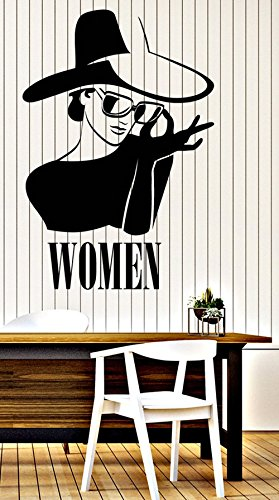 BorisMotley Wall Decal Beautiful Women in Hat and Sunglasses Vinyl Removable Mural Art Decoration Stickers for Home Bedroom Nursery Living Room - Sunglass In Spanish