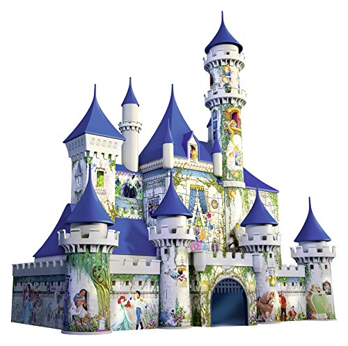 Ravensburger Disney Castle 216 Piece 3D Jigsaw Puzzle for Kids and Adults - Easy Click Technology Means Pieces Fit Together Perfectly (Puzzles Cinderella Castle)
