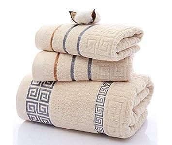 Color : Brown Toallas, Toallas de ba/ño, Cuadrados M/áxima suavidad y absorbencia Premium Hotel SPA Calidad de ba/ño Juego de Toallas