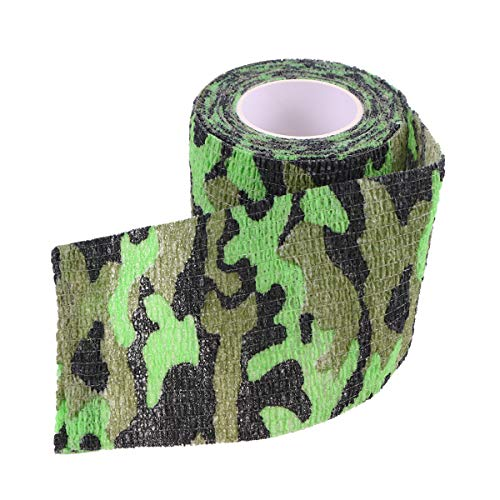 TINKSKY Adhesive Tape Desert Tape Self-Adhesive Grid Masking Tapes Non-Woven Camouflage Tape(Marsh)