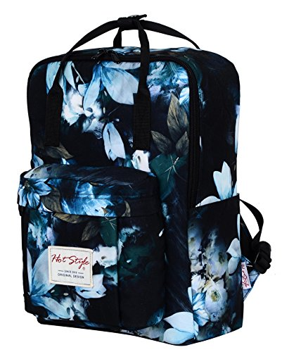 hotstyle-convertible-backpack-purse-with-lilies-print-holds-14-inch-laptop