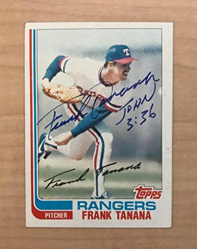 FRANK TANANA TEXAS RANGERS SIGNED AUTOGRAPHED 1982 TOPPS CARD #117T W/COA