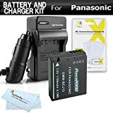 Battery And Charger Kit For Panasonic Lumix DMC-LX7 DMC-LX7K, DMC-LX7W, DMC-LX5 Digital Camera Includes Extended Replacement (1700Mah) DMW-BCJ13 Battery (WITH INFO CHIP!) + Ac/Dc Travel Charger + More