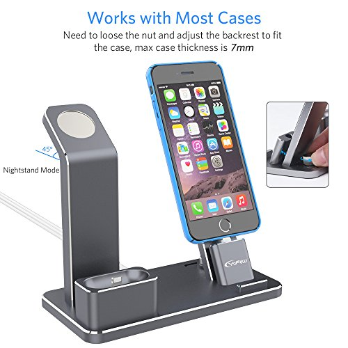 innovative design 09216 7f30d YoFeW Charging Stand for Apple Watch Charger Stand Aluminum - Import ...