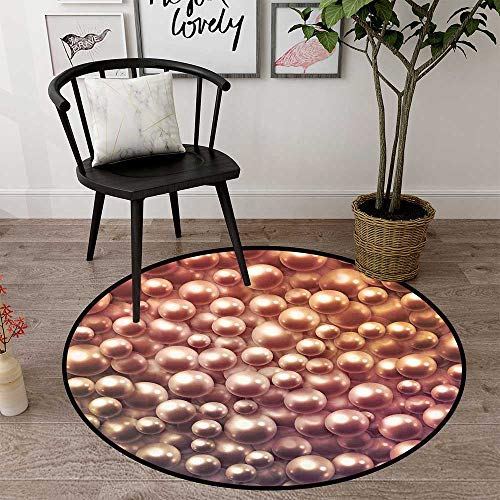 Circle Floor mat Under high Chair Round Indoor Floor mat Entrance Circle Floor mat for Office Chair Wood Floor Circle Floor mat Office Round mat for Living Room Pattern 2'3