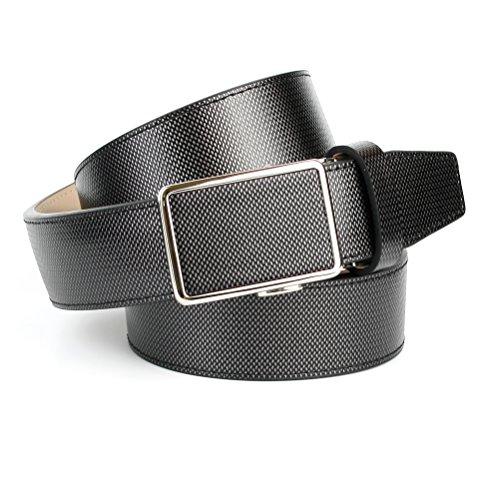 Anthoni Crown Leather Men`s Belt Grey 36