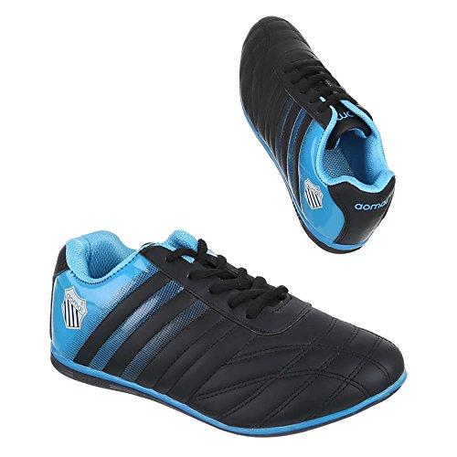 casa Zapatillas Blau Negro Design Schwarz Ital Mujer de 8UOxB6q