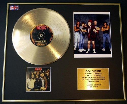 AC/DC/CD Disco d'oro/Disco & Foto Display/Edizione LTD/Certificato di autenticità /HIGHWAY TO HELL EC