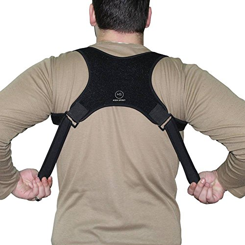 Posture Corrector for Women, Men and Kids- Invisible and Comfortable Back, Shoulder Support Brace - Discreet Design - Clavicle Support for Medical Problem & Prevent Slouching by High Spirit