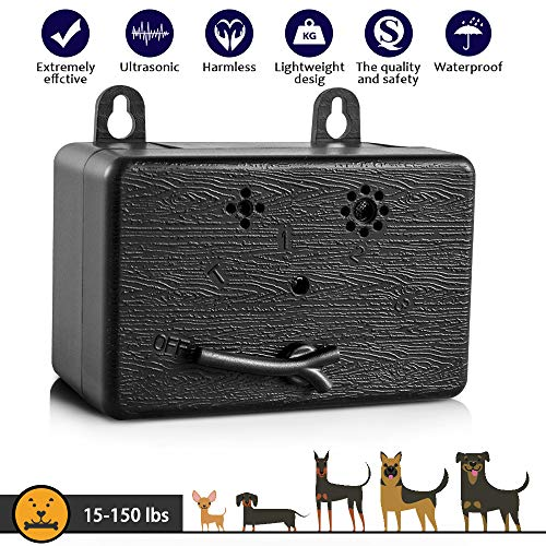 CAPKIT Dog Bark Control Device 50 FT Range Barking Device, Ultrasound Mini Outdoor Dog Bark Control, Anti-bark Deterrent, Training Tools, Indoor/Outdoor Stop Bark Security for -