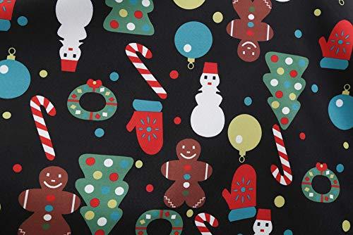Sera Completi donna prometion Big vestiti Natale Swing ▾ Sans Vintage Festa estate da Multicolore manches sportivi donna Vestito Kimono corti Cerimonia Impression qwTX8Td